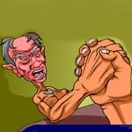 Play Grampa Grumble Arm Wrestling